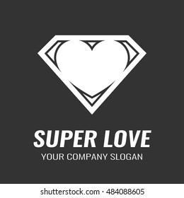Logo. Icon. Heart. Super love.