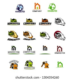 Logo or icon home to your Homebuyer logo identity or corporation logo
