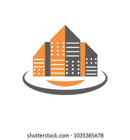logo or icon of house and building