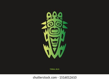 Logo icon illustration of bug beetle insect in tribal style. Suitable for logo for business or tattoo inspiration.