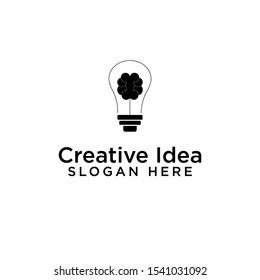 logo icon lamp vector design