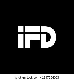 logo with icon letter F and D