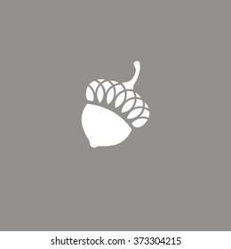 logo icon oak acorn
