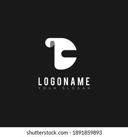 Logo Icon Paper Latter C