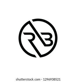 logo icon rb initial symbol