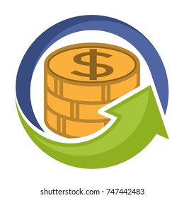 logo icon to save money and invest growing business