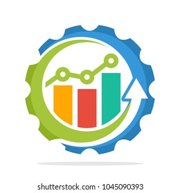logo icons with the concept of the process of increasing sales, the process of economic growth, the process of investment growth