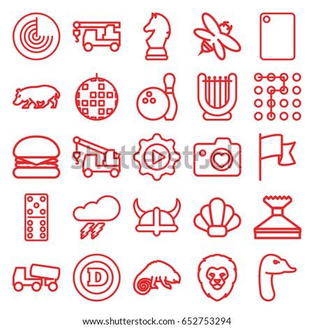 Logo Icons Set Set 25 Logo Stock Vector (Royalty Free) 652753294