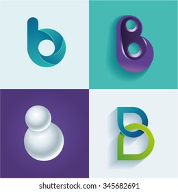 Logo idea of letter B set