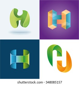 Logo idea of letter H set