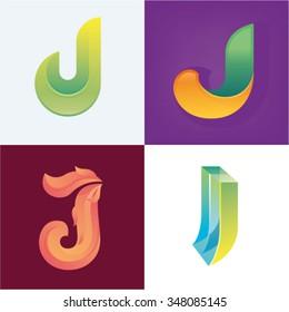Logo idea of letter J set