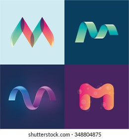 Logo idea of letter M set