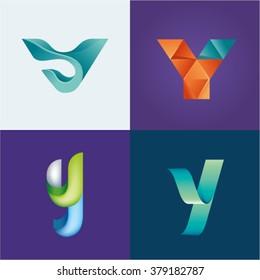 Logo idea of letter Y set