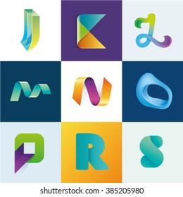 Logo idea of letters J K L M N O P R S set
