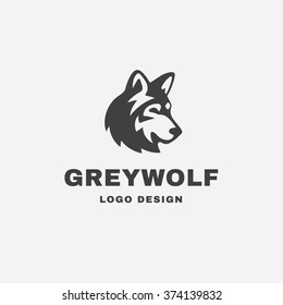Logo illustration of a wolf