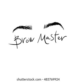 The logo with the image of the eyebrows.