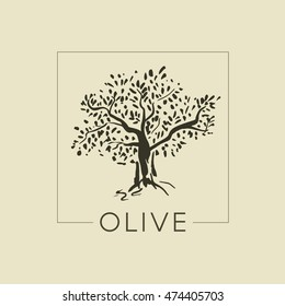 The logo with the image of the olive tree
