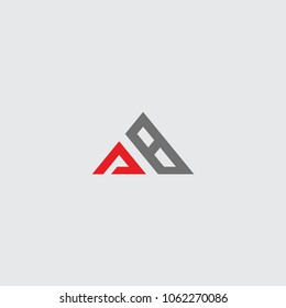 logo initial ab triangle vector