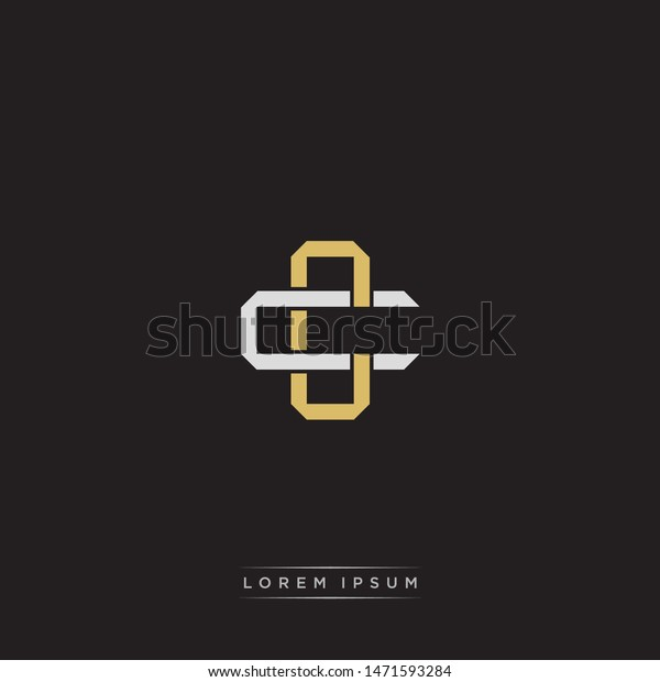 Logo Initial Cc C Monogram Letter Stock Vector Royalty Free 1471593284
