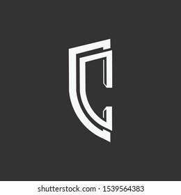 Logo initial cc design template eps 10