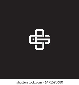 Logo initial CG C G GC monogram locked style with black and white colors