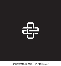 Logo initial CZ C Z ZC monogram locked style with black and white colors