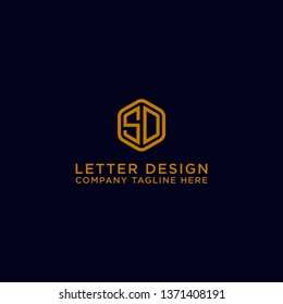 Logo The initial design of the letter SD. - Vector
