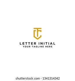 Logo The initial design of the letter TC. - Vector
