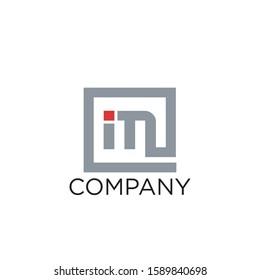 logo initial im design vector