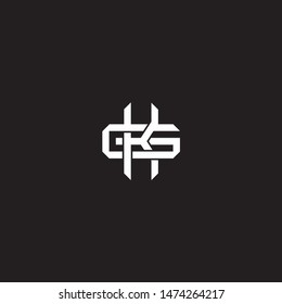 Logo initial KG K G GK monogram locked style with black and white colors