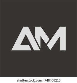 AM logo initial letter design template vector