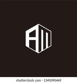 AM Logo Initial Monogram Negative Space Designs Templete