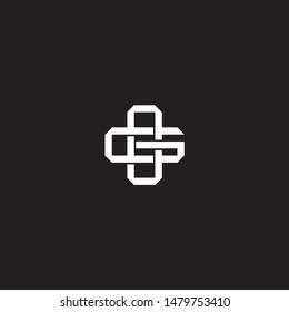 Logo initial OG O G GO monogram locked style with black and white colors