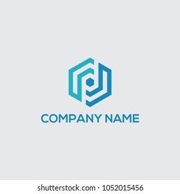 logo initial pd vector