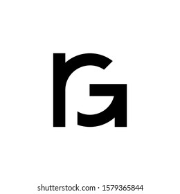 logo initial rG vektor abstract