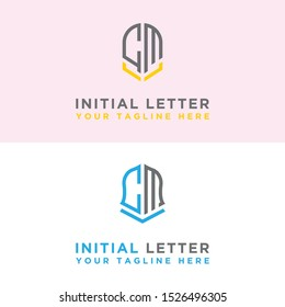 Logo Initial set of modern CM graphic design. Inspiring logo design for all companies. -Vectors