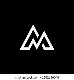 logo initial aM vektor abstract