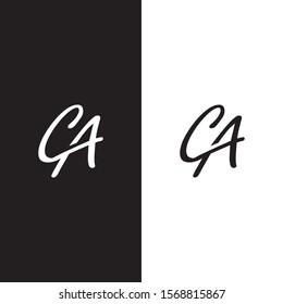 logo initials ca beauty lettering design