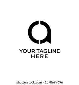 logo initials CA minimalist creative