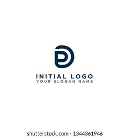 Logo initials letter DP icon design. - Vector