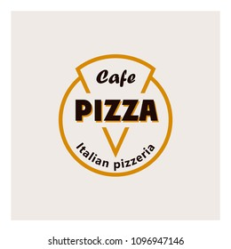 Logo for the Italian pizza in the form of pizza.