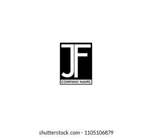Logo JF Minimal Hipster Vector Design