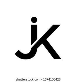 logo JK simple vector modern creative