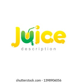 logo juice and fruit vector