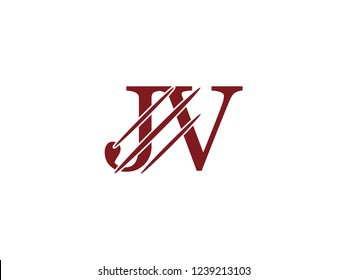 the logo of the JV letter with the style of scratching the incision
