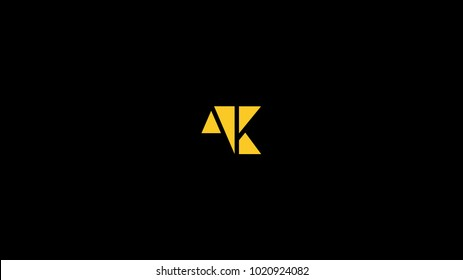 logo of A K and AK  in nice shape