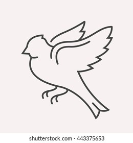 logo or label bird. Line style logotype template. Easy to use business template. Vector abstract logo or emblem.