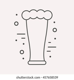 logo or label drink. Line style logotype template with beer. Easy to use business template. Vector abstract logo or emblem.