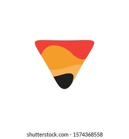 Logo Lava Volcano letter V mountain vector