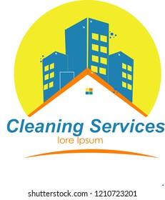 Logo layanan pembersih rumah dan gedung